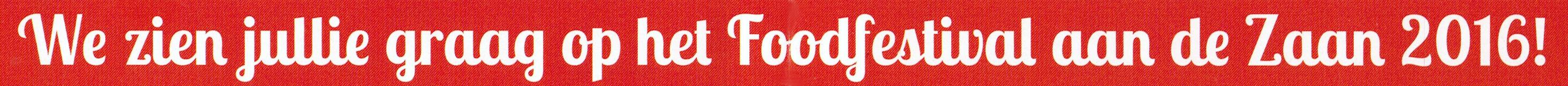 Foodfestival aan De Zaan logo