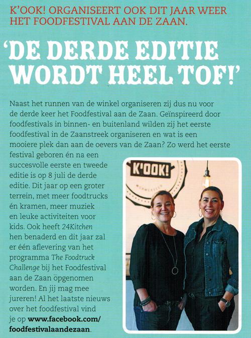 Foodfestival aan De Zaan initiatief van K-OOK!